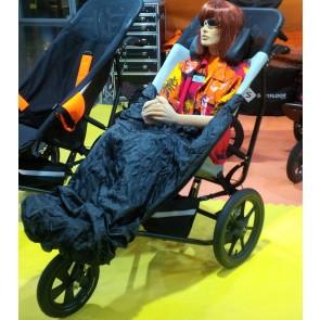 Delichon Dolly models the BundleBean cosy in XL Delta