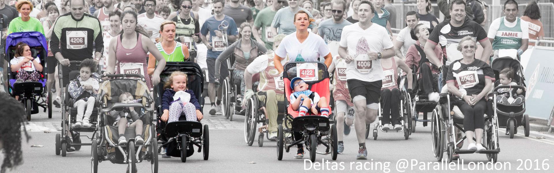 3 Delta Buggies running in Parallel London event 2016