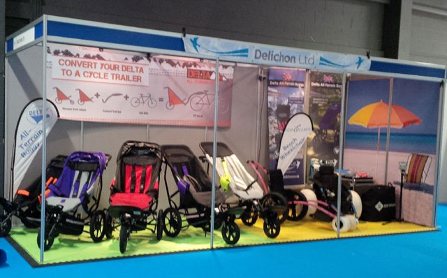 Delta Buggies and Hippocampe wheelchairs on display at Kidz North