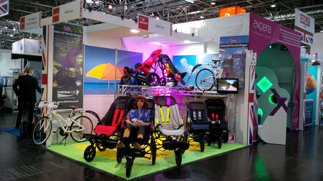 Colourful Delichon stand at the RehaCare exhibition