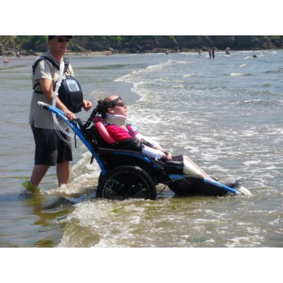 Hippocampe in the sea with ventilator