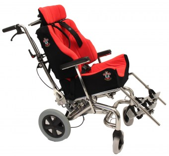 Red & Black Foam-Karve on Tilt-In-Space Wheelchair
