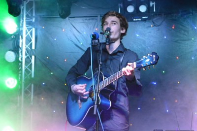 Julian Davy on stage in the 2014 Burgate's Got Talent Show