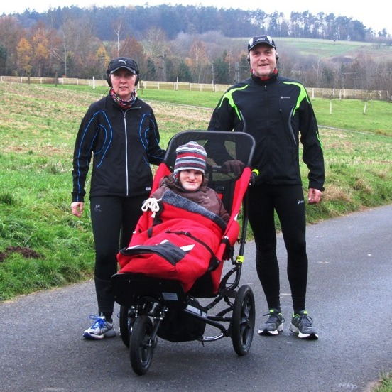 Running in Germany with Delta buggy