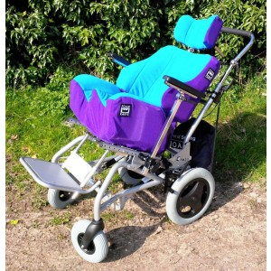 Foam-Karve Seat on Discovery with Sky/Purple covers