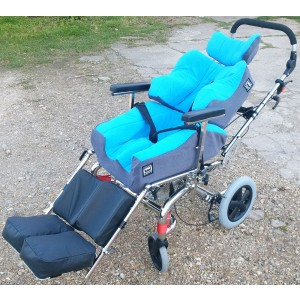 Sky Blue and Grey Foam-Karve custom seat with modified Neo